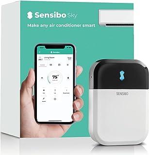 Sensibo Sky 智能家居空调系统 - 60 秒安装,快速,简便,使用节能应用程序,保持舒适度 - 自动开/关,Wifi、谷歌、Alexa 和 Siri(白色)