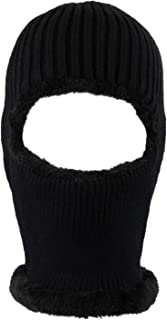 SUNTRADE 法兰绒中性款无檐小便帽,单孔滑雪面具保暖天鹅绒保护和慵懒时尚无檐小便帽 适合户外使用