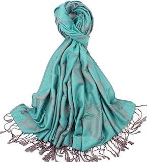 蝴蝶设计柔软羊绒围巾女式披肩披肩披肩,双色可反穿