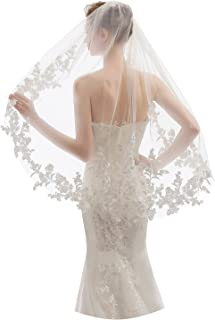 EllieHouse 1 层指尖长度短款婚礼新娘面纱带梳子 X09