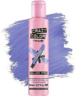 Crazy Color *剂 - 纯素和无残忍的半永久*剂 - 用于预亮或金发的临时* - 无需过氧化物或显影剂(LILAC)