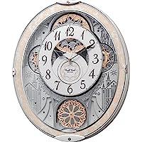 节奏时钟工业 座钟・挂钟 白色 45.7x37.9x8.5cm 挂钟 电波 模拟 到 48首 旋律 8mn407rh03
