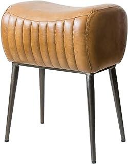 宫武制作所 凳子 MASALA 宽39×深30×高50厘米(座面高:48厘米) 棕色 复古感的铁架 真皮座面 BCW-M3950