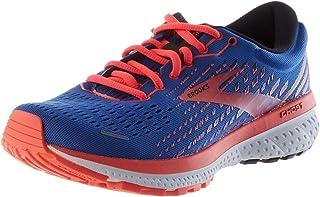 Brooks 缓震系列 女式 Ghost 13 跑鞋, Blue/Coral/White, 3.5 UK