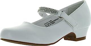 Little Angel Girls Daisy-759E 圆头水钻绑带儿童高跟鞋