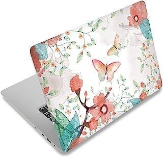 笔记本电脑皮肤贴纸盖贴花适合 12 13 13.3 14 15 15.4 15.6 英寸笔记本电脑保护套笔记本电脑 | 易于粘贴、移除和更改样式(蝴蝶和花朵)