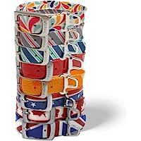 Kurgo Muck 项圈防水狗项圈 - 蓝色、红色、橙色、灰色、多色、爱国主义、Union Jack 和枫叶 Unio…