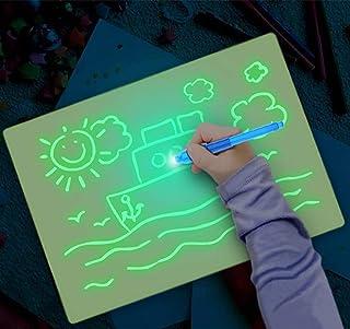 有趣的绘图板板在黑暗中发光,儿童绘画板教育玩具,开发绘画或写作技能 A3