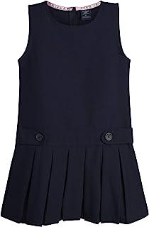 U.S. Polo Assn. 女童校服 - 无袖套头衫连衣裙,带褶皱裙