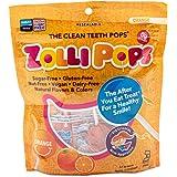 Zollipops 清洁牙齿棒棒糖| 木糖醇抗蛀牙,无糖糖果,带给您健康的笑容-非常适合儿童,和生酮饮食者(橙子,3.1…