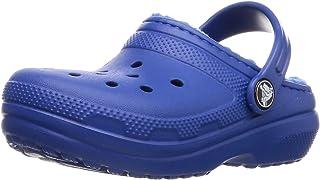 crocs ' 经典内衬洞洞鞋 黑色/黑色 11 M US 儿童 Classic Lined Clog Kids