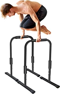 KL KLB 运动重型浸口站健身锻炼平行杆,300 磅能力强度训练器材,适用于家庭健身房。