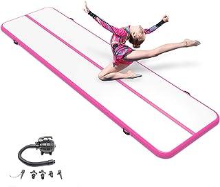 14 英尺/16 英尺/20 英尺/充气体操空气翻腾垫训练轨道垫翻垫练习体操/健身房/家居/啦啦队/瑜伽