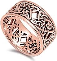 选择您的颜色纯银凯尔特结戒指