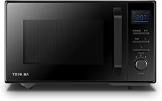 TOSHIBA 东芝 950瓦 25升微波炉,带易清洁搪瓷内室,位置记忆转盘,对流2250瓦和脆皮烧烤1150瓦 - 黑色 - MW2-AC25TF(BK)