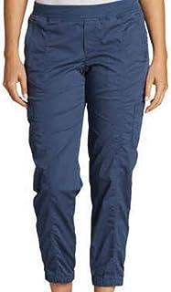 Eddie Bauer 女式后背斜纹慢跑裤,灰蓝色,4