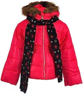 Le Petit Rothschild 女童保暖派克大衣,带围巾