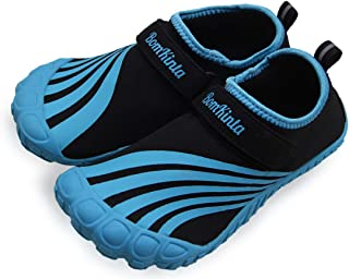 BomKinta 儿童涉水鞋 赤脚男孩 女孩 速干运动鞋 适合海滩或水上运动