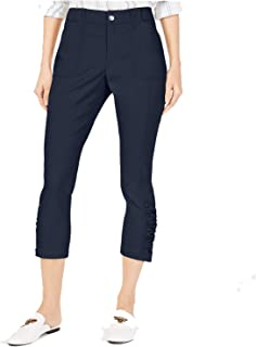 INC International Concepts 女式曲线褶边下摆七分裤