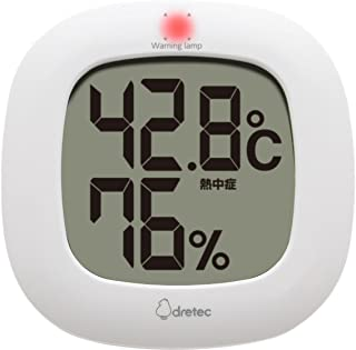 dretec 温湿度计 温度计 湿度计 电子 小巧 简约 时尚 室内 大画面 桌上 壁挂 孩子 O-295WT(白色)