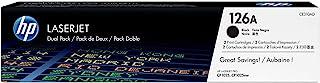 HP 惠普 126A(CF341A)蓝色 / 黄色 / 红色原装碳粉适用于惠普 Color LaserJet Pro 和 HP 126 A 蓝色硒鼓。 Schwarz Doppelpack Schwarz 2er-Pack