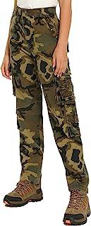 女式军裤棉质战术军事战斗徒步工装裤带口袋长裤