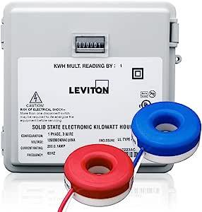 Leviton MO240-2SW 户外表面安装机械计数器 120/208/240V 2P3W 200A 带 2 个实心核心 CTs 迷你仪表套件