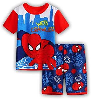 男童睡衣套装棉质儿童短款紧身睡衣夏季幼儿睡衣尺码 2-7 岁