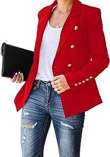 Cicy Bell 女式长袖休闲西装工作办公室纽扣开襟夹克西装