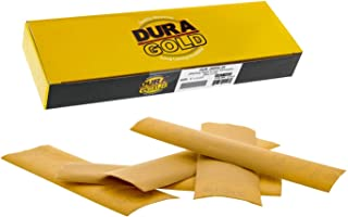 Dura-Gold – 高级 – 800 砂金 – 精细手工打磨钩和环砂纸纸 22.86 厘米 x 6.28 厘米 适用于汽车和木工 – 25 件