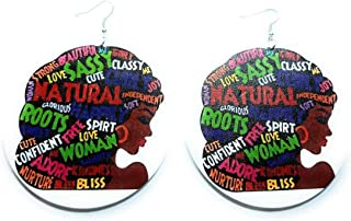 Teri's Boutique Afro 黑色非洲裔美国美丽民族风格装饰时尚吊坠大耳环