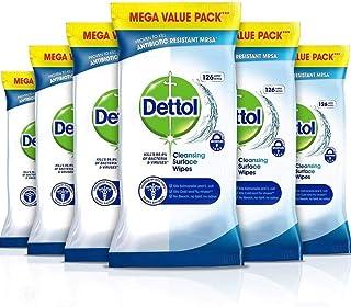 Dettol 滴露 湿巾 抗菌 表面清洁,多包装6 x 126,共756张湿巾
