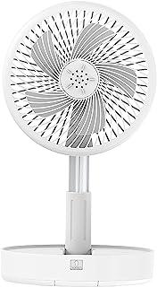 Apexto 便携式风扇台和桌扇,7.6 英寸(约 19.6 厘米)可折叠风扇,7200 毫安电池供电或 USB 供电,可调节高度底座立式落地风扇,4 档速度型号