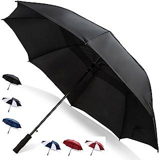 Third Floor 雨伞 62 英寸自动打开高尔夫伞 - 超大透气防风防水结实双罩