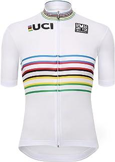 Santini 男士 UCI World Champion Master 设计短袖运动衫