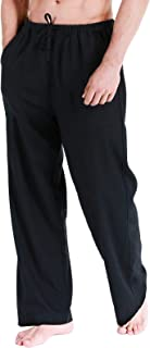 Fashonal Linen 男士瑜伽沙滩抽绳棉裤 黑色//白色 Large