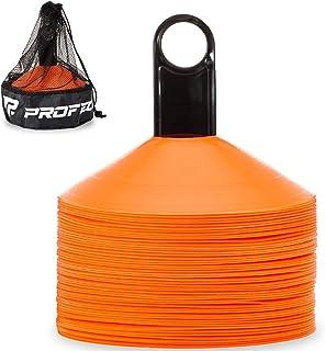 asika Agility 足球锥 带手提袋和支架 适用于训练、足球、儿童运动、田径球标(50 只装)
