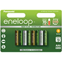 Panasonic 松下电器 Eneloop Botanic AAA 镍氢电池 x 8,750mAh,可充电,BK-4M…