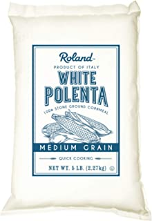 Roland Polenta, Medium Grain White, 5 Pound