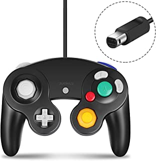 Gamecube Controller, CIPON Wired Controllers Classic 手柄 摇杆 for Nintendo and Wii Console Game Remote 黑色