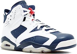 Jordan Air 6 VI Retro Olympic Men's Basketball Shoes White/Midnight Navy/Varsity Red