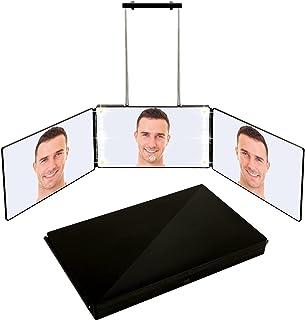 可充电 3 向后视镜,自理发高度可调 360° 门镜,带灯光(黑色)