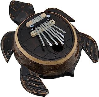 手工雕刻木和椰壳海龟拇指钢琴卡琳巴