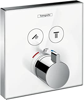 hansgrohe 汉斯格雅 ShowerSelect 玻璃暗装恒温器,双功能,白色/镀铬