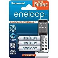 松下 eneloop 可立即使用的 Ni-Mh 电池BK-4MCCE/3DE AAA 3er Pack DECT