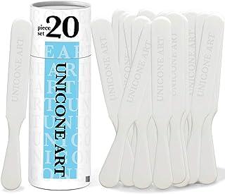 Unicone Art 可重复使用塑料搅拌棒,适用于树脂、艺术、油漆 - 20 件套