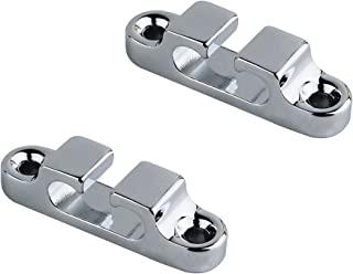 Guyker 2 件 2 弦固定器/弦导轨,用于电动低音头固定器弦树弦扣导轨凹槽低音弦 SR4,镀铬