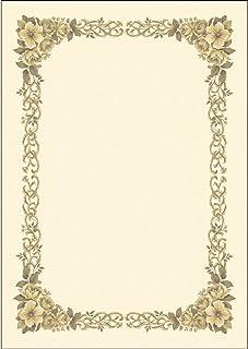 Takashi 西式花纹*状纸 纵横兼用 奶油 Kent 纸 10张装 B4 米色