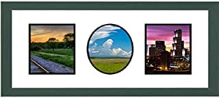 Mail 相框双方形单椭圆开口拼贴框,适用于 10.16 厘米 x 15.24 厘米照片,*