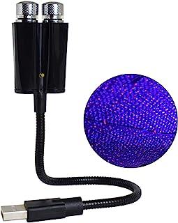 Dengofng 汽车吉普索菲拉夜灯 USB 星形投影仪,2 合 1 汽车车顶灯,可调节浪漫 LED 汽车灯,适用于汽车、卧室或派对